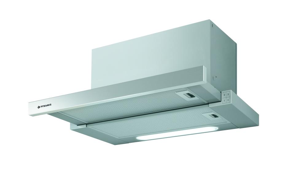 pyramis flachschirmhaube turbo edelstahl 60 cm 065017501 eek d green point. Black Bedroom Furniture Sets. Home Design Ideas